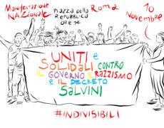 Uniti contro il governo, il razzismo e il decreto Salvini – Manifestazione nazionale sabato 10 novembre ROMA